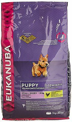 Eukanuba Dry Puppy Food for Small Breed - Chicken, 3 kg