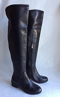 782b63d707a VINCE CAMUTO BALDWIN 2 Leather Tall Over the Knee Boot Black Leather ...