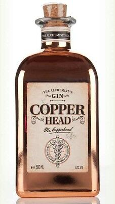 empty copperhead copper head collectable gin bottle upcycled upcycling
