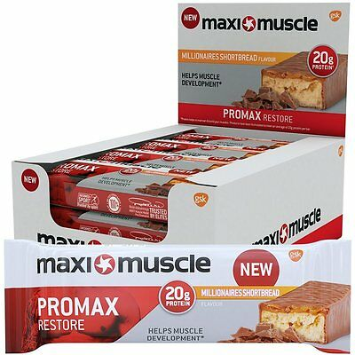 Maximuscle 60 g Millionaire Shortbread Promax High Protein Bar - Pack of 12