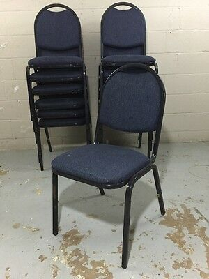 (1) Navy Blue stackable chair