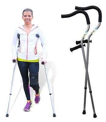 "Life Crutch by Millennial Medical, 1 Pair of Crutches - Universal Size 4'6""..."