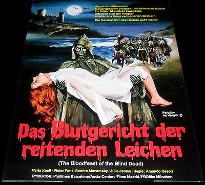 1975 Night of the Seagulls GERMAN A1 POSTER Amando Ossorio The Blind Dead 4