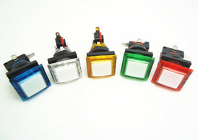 12 pcs of square 33mm*33mm translucent lighted Illuminated Push Button