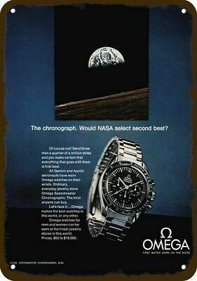 1970 OMEGA SPEEDMASTER Watch - Gemini - Apollo Moon Astronaut REPLICA METAL SIGN