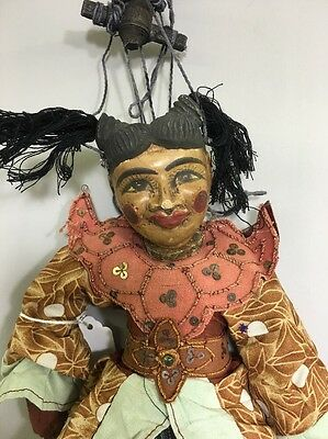 Asian Burmese Hand Carved Wood Marionette Puppet
