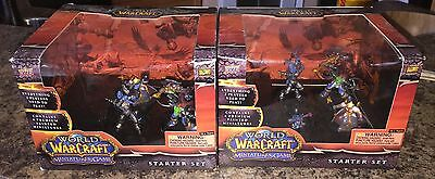World of Warcraft - Miniatures game starter set - lot of 2 - new