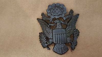 WWI US Army Officer Garrison Cap Badge