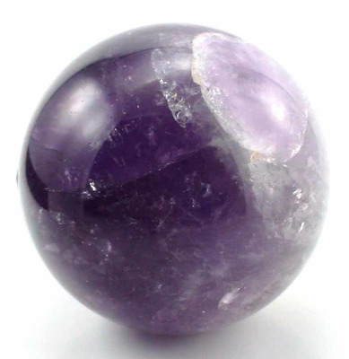 Amethyst Healing Crystal Sphere, Polished Natural Purple Quartz Stone Ball, 2.5""