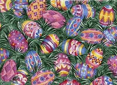 Longaberger Easter Egg Fabric Fat Quarter Yard - NEW