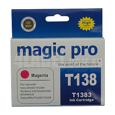 magic pro 138M Compatible Magenta Ink Cartridges Replace for Epson 138M