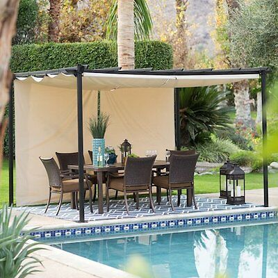 Durable Steel Pergola Canopy Outdoor Patio Furniture Backyard Lawn Deck Shelter