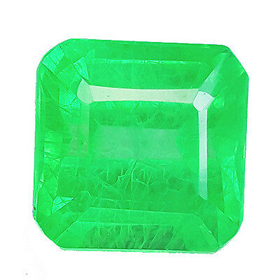 10.35 cts OCTAGON FACET COLOMBIAN GREEN EMERALD CHATHUM LAB CREATED