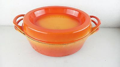 COUSANCES FRANCE (Le Creuset) #16 Doufeu Dutch Oven Pot Lid Orange ...