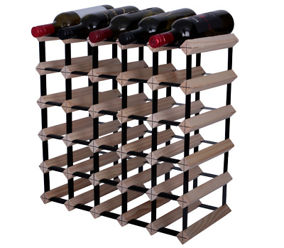 Timber 30 Bottle Wine Rack, Natural Finish. Huge Savings