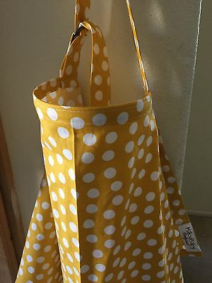 NEW  >NURSING COVER like HOOTER hider* BREASTFEEDING Dots yellow