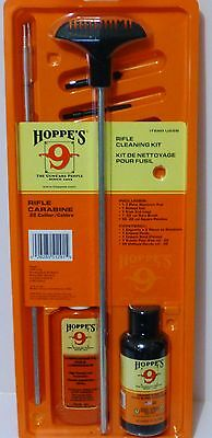 Hoppes .22 223 224 5.56 Rifle Gun Firearm Cleaning Kit, 3 Piece Rod.