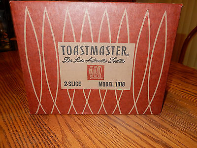 Vtg Toastmaster 2-Slice De Luxe Automatic Toaster 50's 1B18 Sealed in Box  USA