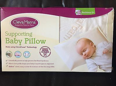 Clever Mama Supporting Baby Pillow NEW 0+ Month Reduces Flat Head Syndrome