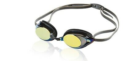 Speedo Vanquisher 2.0 Mirrored Anti-Fog Swimming Competition Goggle, Deep Gold