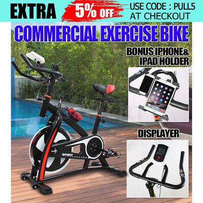 Commercial Exercise Spin  Bike Flywheel Home Fitness Adjustable Monitor Workout