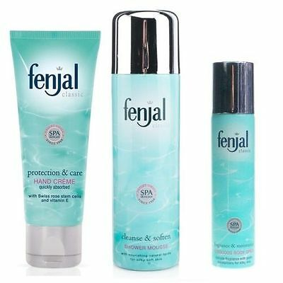 TRIO Fenjal Classic BODY SPRAY 75ml + SHOWER MOUSSE 200ml + HAND CREME 50ml