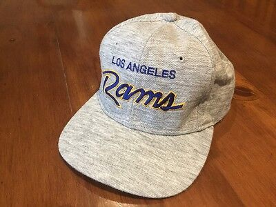 Los Angeles Rams NFL Baseball Style Hat With Adjustable Sizing, Grey
