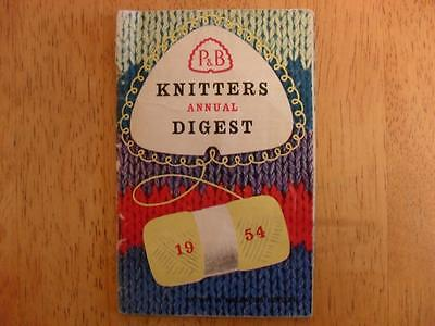 Vintage Original Knitting Patterns Book, Patons Knitters Annual Digest, 1954