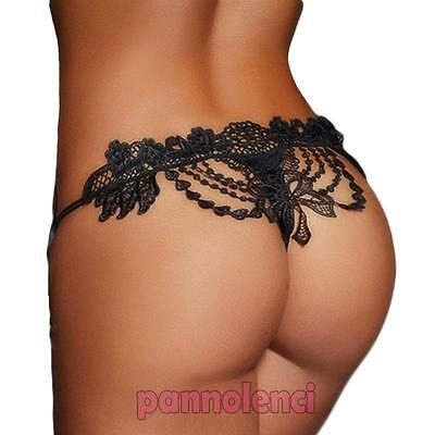 Perizoma donna thong string ricamo pizzo sexy lingerie intimo nuovo DL-1904