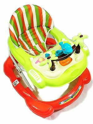 Baby Walker pink Activity First Steps Music Melody Toy Adjustable Bright Colours