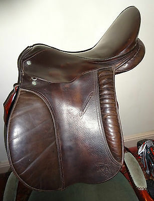 "16 1/2"" brown english leather antill saddle walsall wide fit"