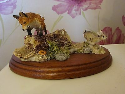 border fine arts - ft02 out foxed fox rabbit natures kingdom