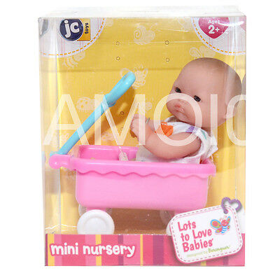 Berenguer Baby Doll Mini Nursery in Pulling Wagon Lots to Love Babies *New
