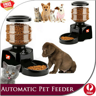 5.5L Automatic Pet Feeder Cat Dog Food Bowl Electronic Dispenser Digital Display