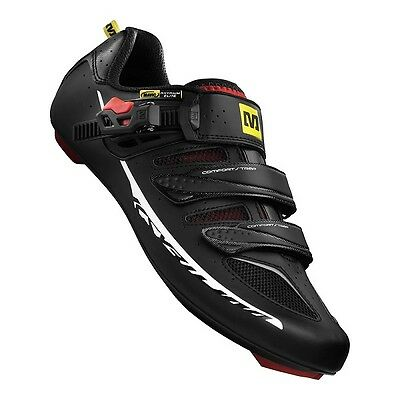 Mavic Ksyrium Elite Road Shoe 2015 - Black/Red - UK Size 8 - Damaged Box