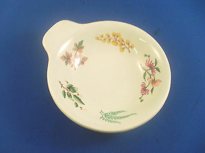 Canadian Pacific Railway Acorn Pattern Single Eared Peanut Dish In V.g.condition