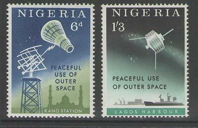 Nigeria Sg131/2 1963 Peaceful Useful Of Outer Space Mnh
