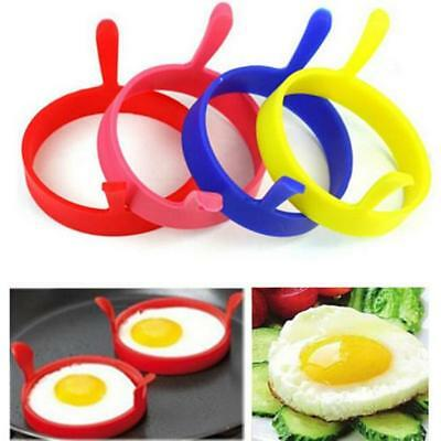 4pcs Silicone Egg Fried Oven Pancake Mould Poach Ring Kitchen Tool 5 Colors Z
