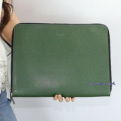 NWT Coach Men's Leather Business Document Tech Portfolio Case F64915 Fern Green