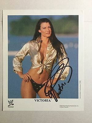 WWE Victoria Genuine signed photo 10 x 8 - Autograph with COA - WWF TNA