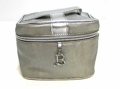 Beyonce Parfums Soft Silver Small Make Up Bag / Cosmetics / Vanity Case *new