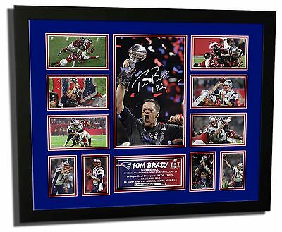 Tom Brady Patriots Super Bowl Li (2017) Signed Limited Edition Frame Memorabilia