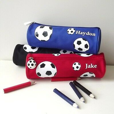 Personalised Pencil Case -School Pencil Case with Name - Football / Soccer gifts