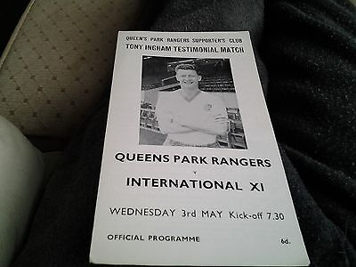 queens park rangers v international xi 66.67 Tony Ingham Testiomonial