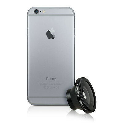 kwmobile MAGNETIC CAMERA LENS FOR APPLE IPHONE 6 / 6S BLACK SMARTPHONE MOBILE