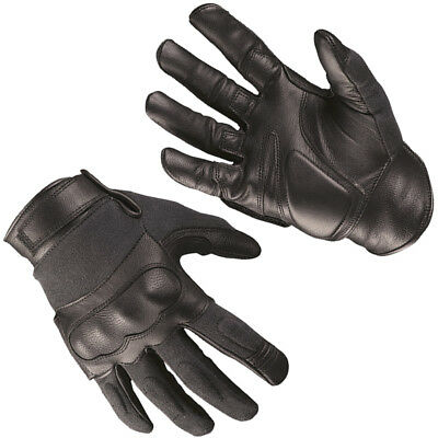 Mil-Tec Tactical Gloves Leather Kevlar Mens Military Shooting Airsoft Gear Black