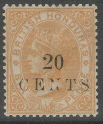 BRITISH HONDURAS SG29 1888 20c on 6d YELLOW MTD MINT