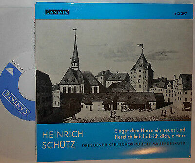 "Schütz Dresdner Kreuzchor Rudolf Mauersberger 7 "" Single"