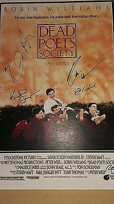 Script Screenplay  Dead Poets Society Robin Williams Peter Weir Signed Printed