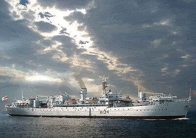 Hms Rame Head - Hand Finished, Limited Edition Art (25)